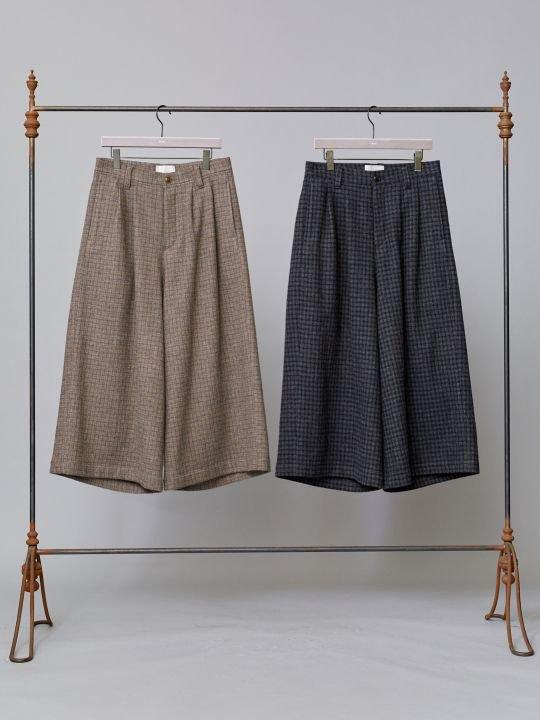 TROVE / RUUTUKA WIDE PANTS / CHARCOAL photo
