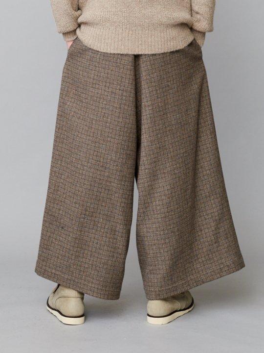 TROVE / RUUTUKA WIDE PANTS / GRAY BEIGE photo