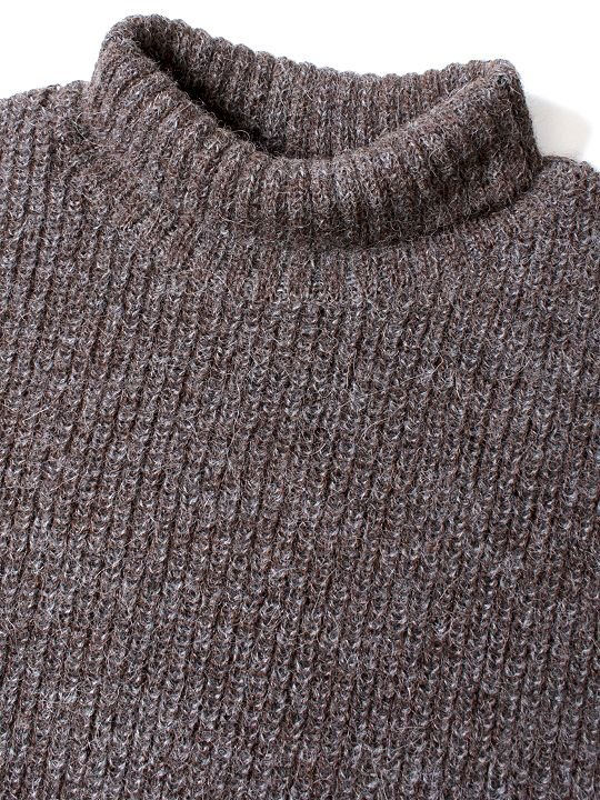 TROVE / MIX TURTLE KNIT / BROWN photo
