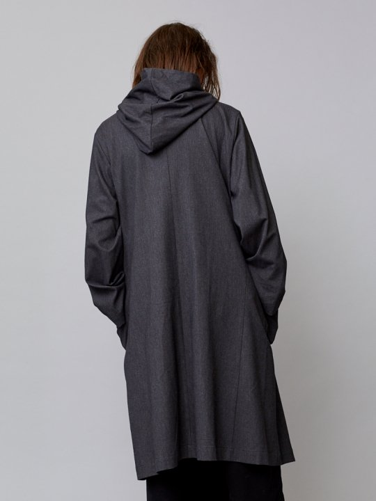 TROVE / KANGAS HOODED GOWN / CHARCOAL photo