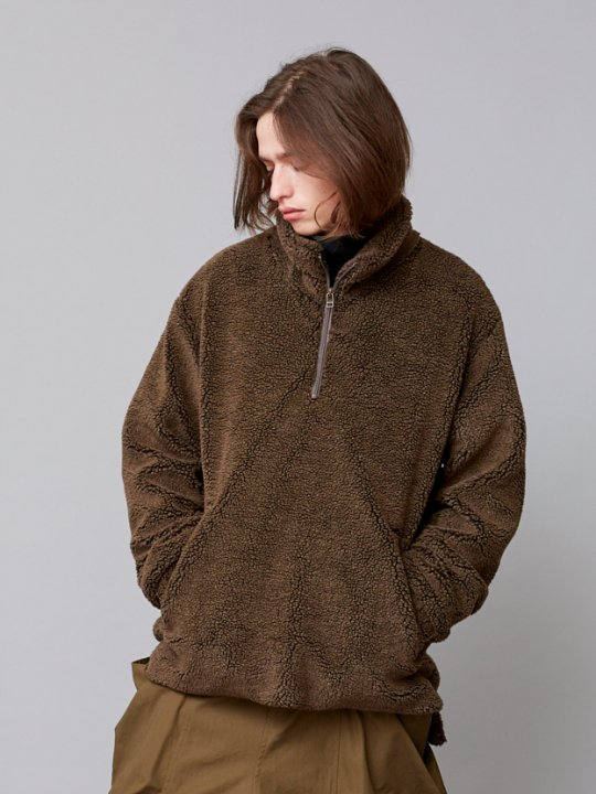 TROVE / WARM HALF ZIP BLOUSON / BROWN photo
