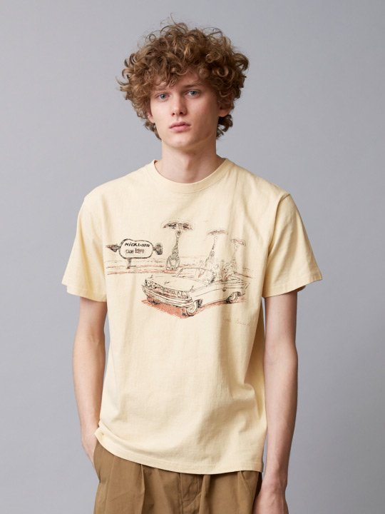 TROVE / GOD SOUTH TEE ( GO TO NICK BURNS ) / BEIGE photo