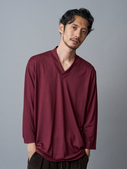 WAROBE / JUBAN 7SLEEVE KNIT / WINE photo