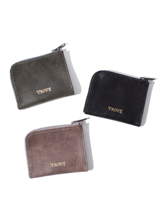 TROVE / SULKA LEATHER WALLET ( MINI ) / KHAKI photo