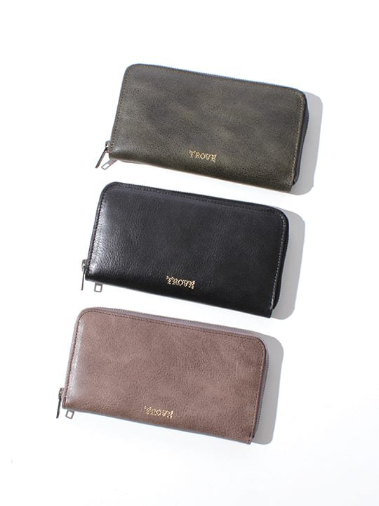 TROVE / SULKA LEATHER WALLET ( LONG ) / KHAKI photo