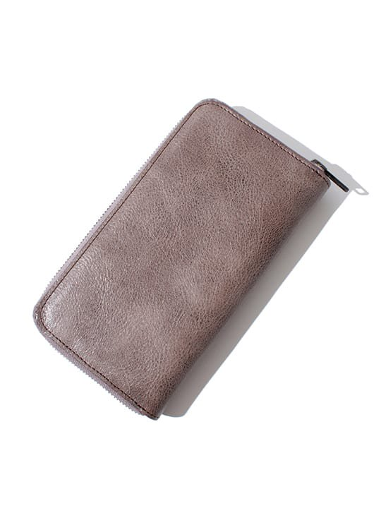 TROVE / SULKA LEATHER WALLET ( LONG ) / GRAY photo