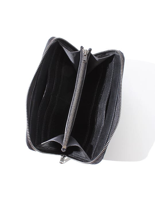 TROVE / SULKA LEATHER WALLET ( LONG ) / BLACK photo