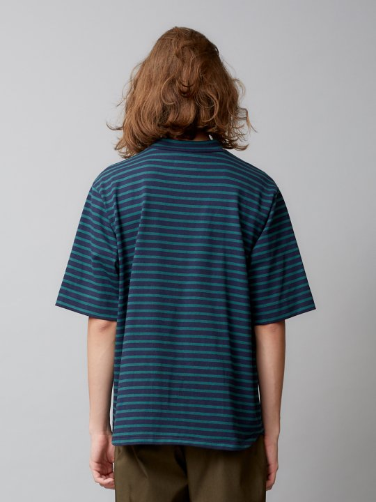 TROVE / VALO HIGH NECK BORDER / GREEN NAVY photo
