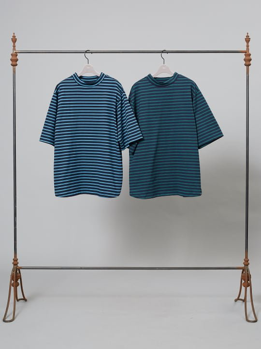【予約商品】TROVE / VALO HIGH NECK BORDER / BLUE NAVY photo