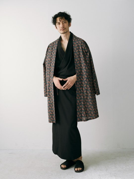WAROBE / GABARDINE YUKATA / BLACK photo