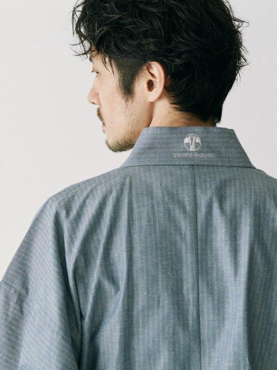 WAROBE / HERRINGBONE YUKATA / BLUE photo