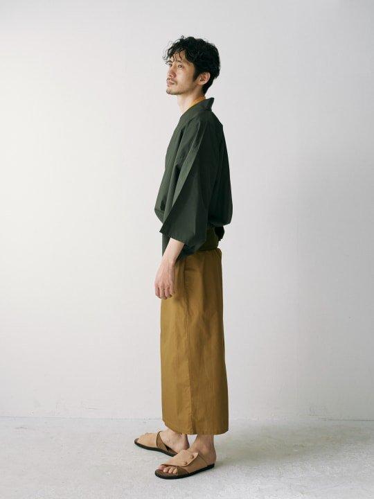 WAROBE / BI-COLOR YUKATA / GREEN x CAMEL photo