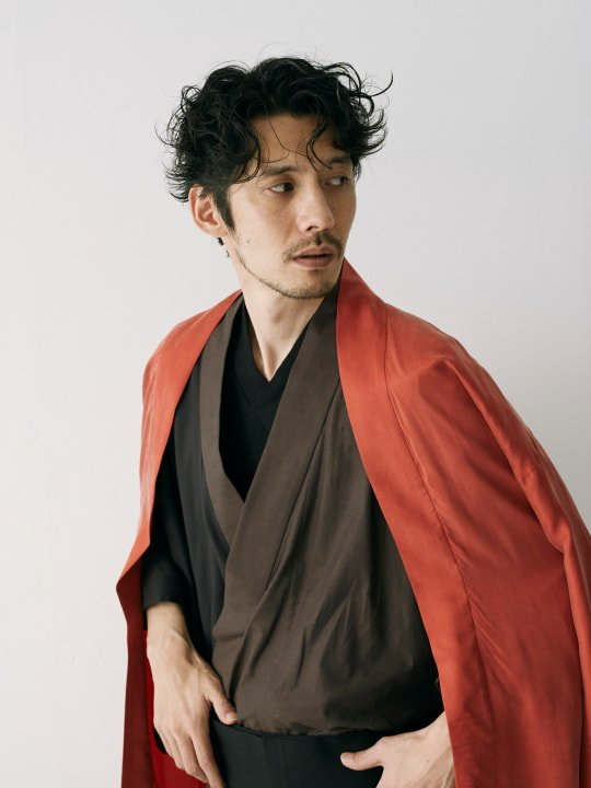WAROBE / MULTI-COLOR YUKATA / BROWN x BLACK photo