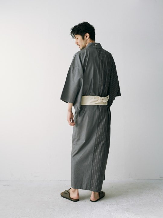 WAROBE / MULTI-COLOR YUKATA / GRAY x STRIPE photo