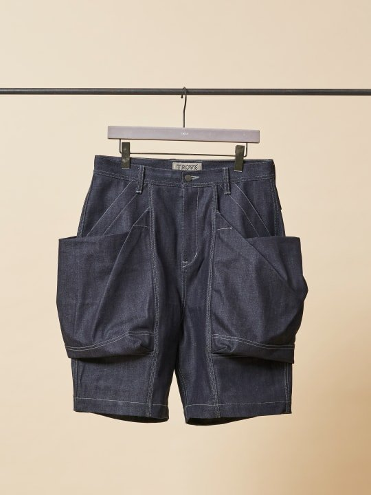 TROVE x 岡部文彦 / BIG POCKET SHORTS ( WIDE SILHOUETTE DENIM ) / INDIGO photo
