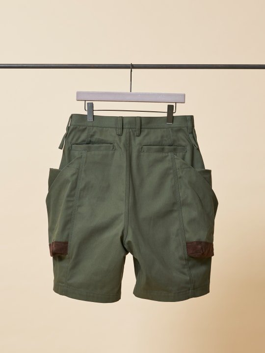 TROVE x 岡部文彦 / BIG POCKET SHORTS ( WIDE SILHOUETTE ) / GREEN photo