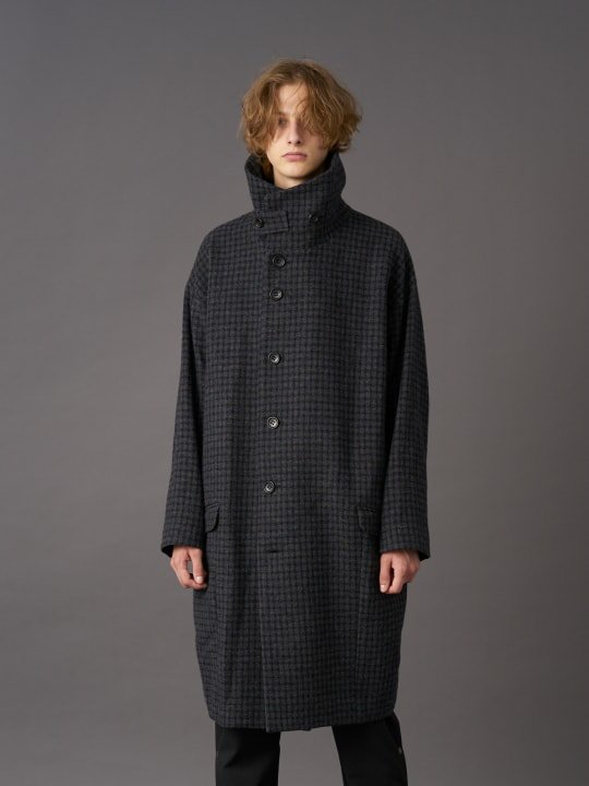TROVE / SAPMI COAT ( MERINO TWEED ) / CHARCOAL photo