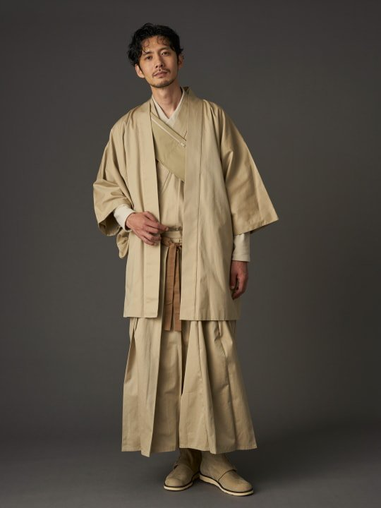【PRE-ORDER】WAROBE / COTTON GABARDINE HAORI / BEIGE photo