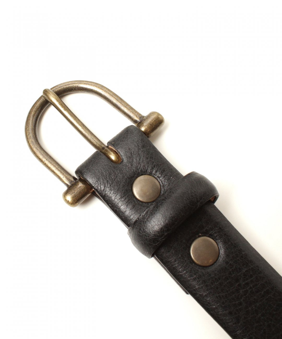 TROVE / SULKA LEATHER BELT / BLACK photo