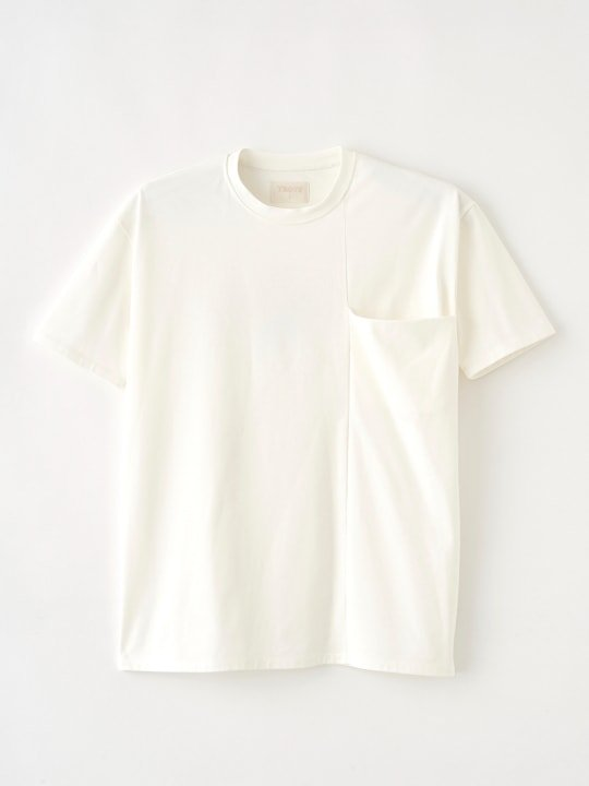 TREVO / WIDE POCKET TEE / WHITE photo