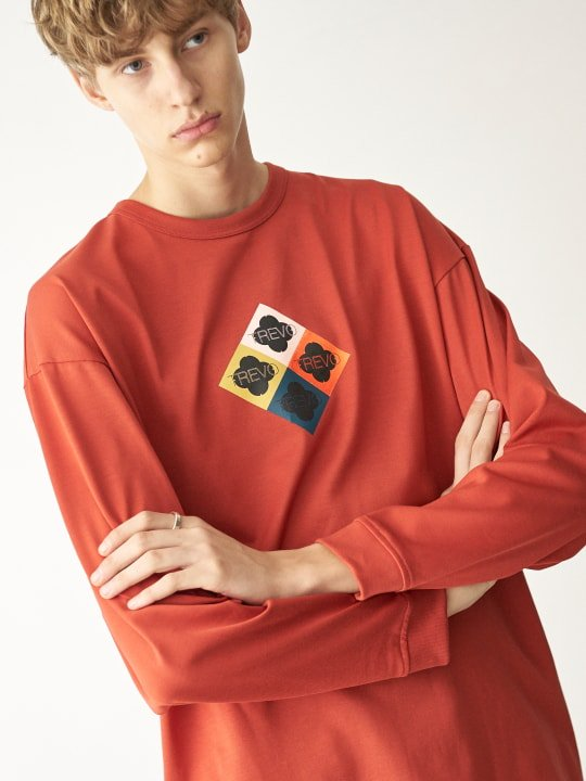 TREVO / LONG SLEEVE TEE / ORANGE photo