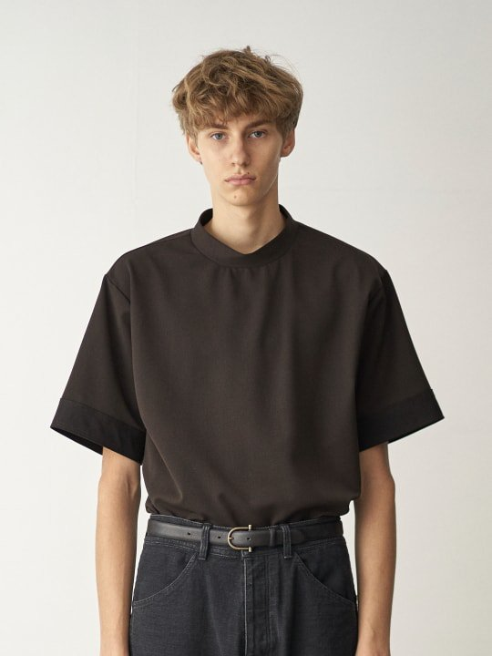 TROVE / HIGH-NECK T / DARK BROWN photo