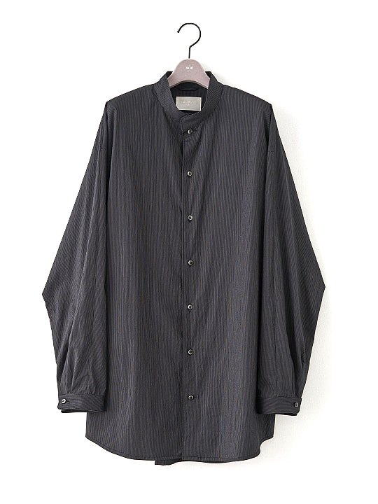 【PRE-ORDER】TROVE / STRIPE SHIRT / BLACK photo
