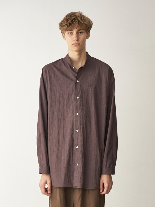 TROVE / STRIPE SHIRT / BROWN photo