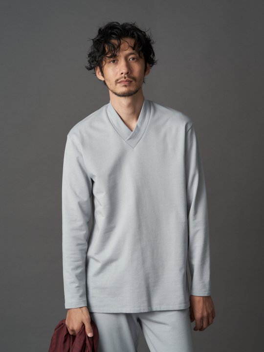【PRE-ORDER】WAROBE / JUBAN SWEAT / BLUE GRAY photo