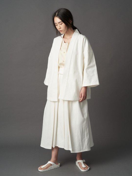 【PRE-ORDER】WAROBE / DENIM HAKAMA ANDON / WHITE photo