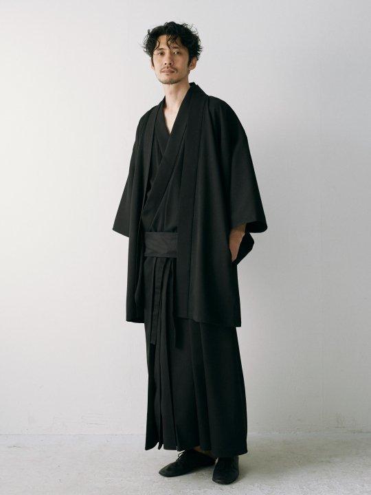WAROBE / GABARDINE YUKATA / BLACK photo