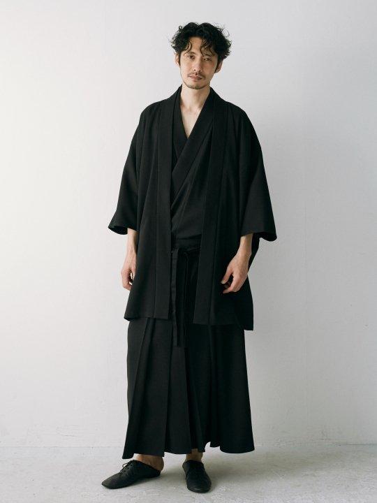 【PRE-ORDER】WAROBE / GABARDINE HAORI / BLACK photo