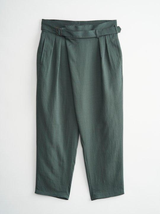TROVE / HOUI WRAP PANTS / MOSS GREEN photo