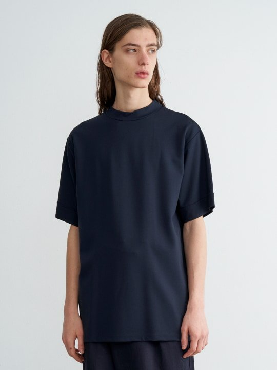 TROVE / MJUK HIGH NECK TEE / NAVY photo