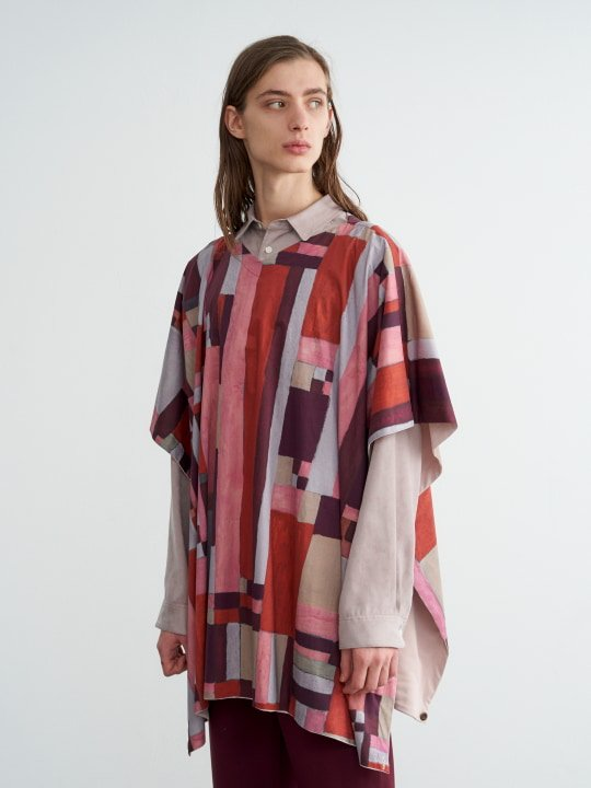 TROVE / VIITTA PONCHO ( REVERSIBLE ) / LIGHT BEIGE photo