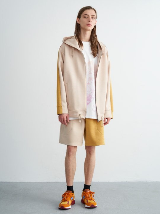 TREVO / ZIP UP PARKA / BEIGE MULTI photo