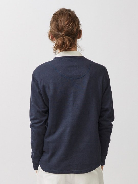 A.TAKA / LONG SLEEVE TEE / NAVY