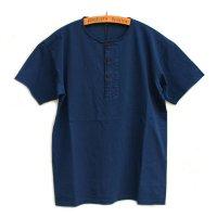Nigel Cabourn<p>Basic Henley Short Sleeve<p>ベーシックヘンリーネックTシャツ (インディゴ染)
