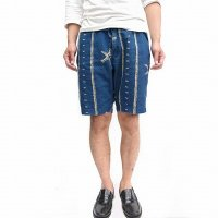 orSlow<p>Easy Short Pants - Indigo Print