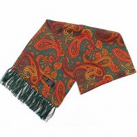 <img class='new_mark_img1' src='https://img.shop-pro.jp/img/new/icons47.gif' style='border:none;display:inline;margin:0px;padding:0px;width:auto;' />TOOTAL<p>Rich Large Paisley Silk Scarf