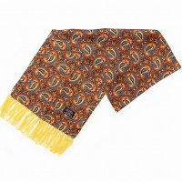 TOOTAL Copper Paisley Silk Scarf