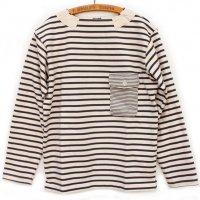 Nigel Cabourn<p>Basque Shirt (Rope Yarn) カットソー<p>(エクリュ)