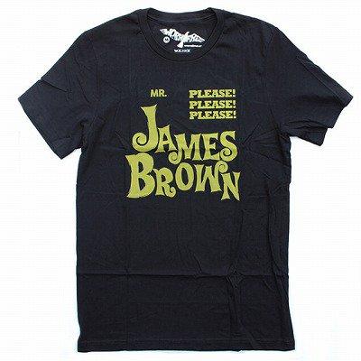 WORN FREEジェームスブラウンPLEASE PLEASE PLEASE Tシャツ - 黒