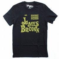 WORN FREE<br>ジェームスブラウン<br>PLEASE PLEASE PLEASE Tシャツ - 黒