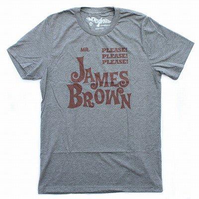 WORN FREEジェームスブラウンPLEASE PLEASE PLEASE Tシャツ - 霜降りグレー