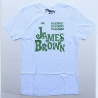 WORN FREE<br>ジェームスブラウン<br>PLEASE PLEASE PLEASE Tシャツ - 白