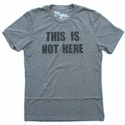 WORN FREEジョンレノンTHIS IS NOT HERE Tシャツ 霜降りグレー