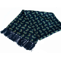 <img class='new_mark_img1' src='https://img.shop-pro.jp/img/new/icons47.gif' style='border:none;display:inline;margin:0px;padding:0px;width:auto;' />TOOTAL<br>Classic Paisley Silk Scarf (紺)