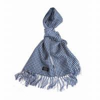<img class='new_mark_img1' src='https://img.shop-pro.jp/img/new/icons47.gif' style='border:none;display:inline;margin:0px;padding:0px;width:auto;' />TOOTAL<br>Houndstooth Silk Scarf<br>(千鳥格子 ブルー)
