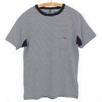 Nigel Cabourn<p>Basic T-Shirt<p>Border - ダークネイビー